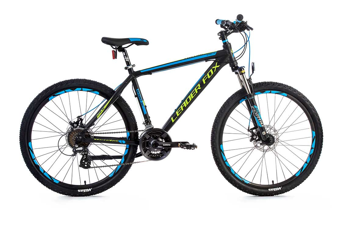 Bicicleta MTB Leader Fox Factor, 21 viteze, suspensie, lock out, farana Tektro pe disc